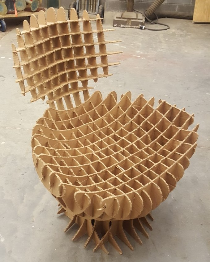 CNC Cardboard Chair